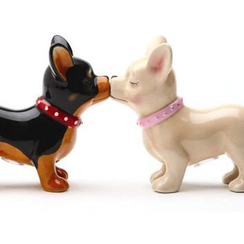 Kissing Chihuahuas Salt and Pepper Shaker Set