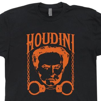 Harry Houdini T Shirt Vintage Harry Houdini T Shirt