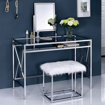 Overstock on wanelo for Furniture of america ailees contemporary glam 2 piece vanity table set with faux fur stool