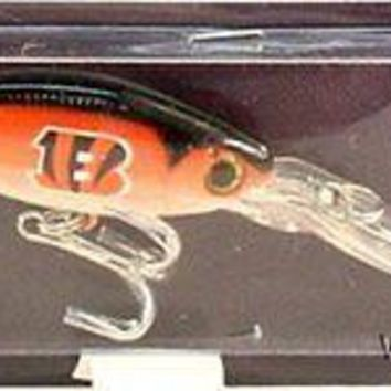 Cincinnati Bengals Minnow Crankbait Fishing Lure Hook NFL Football