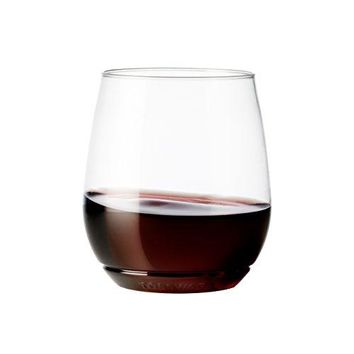14oz Vino - recyclable wine plastic cup - SET OF 12 - stemless, shatterproof and BPA-free wine glasses
