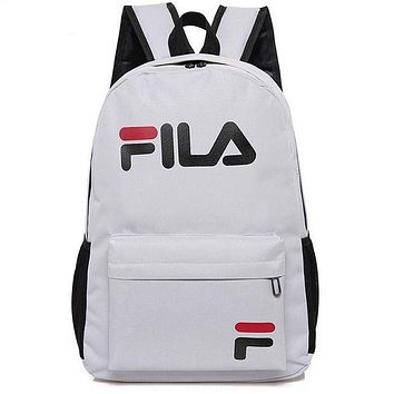 FILA Casual Sport Laptop Bag Shoulder School Bag Backpack F Grey