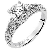 "Artcarved ""Peyton"" Diamond Engagement Ring Featuring Scrollwork Design"