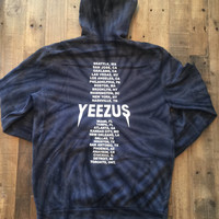 Yeezus Tour Tie Dye Charcoal Hoodie / Yeezus Tour Merch