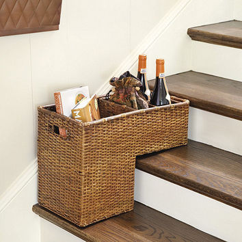 Rattan Step Basket | Ballard Designs