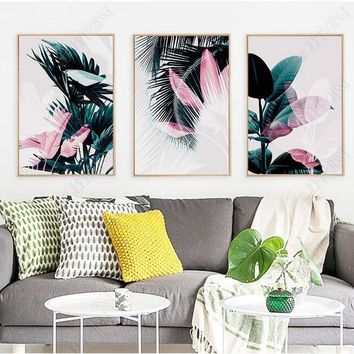 Nordic Botanic Wall Art Leaf Canvas Painting Posters And Prints Canvas Painting Decorative Picture for Living Room No Frame