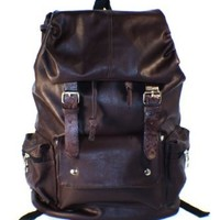 "AM Landen®Korean Style Super Cute Backpack School Bag Can Fit 15""Laptop (Brown)"