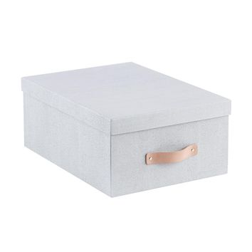 Bigso Grey Woodgrain Storage Boxes