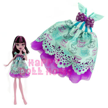"1x High Quality Mini Dress Cute Style Summer Outfit Party Daily Costume Clothes For Monster High School Doll 10"" Puppet Toy Gift"