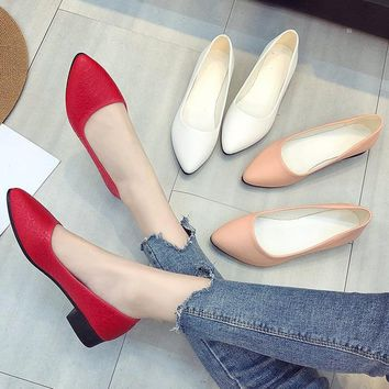 loafers women flats spring women shoes soft pointed toe flats women summer slip-on shoes Korea style ballet flats Doug shoes2018
