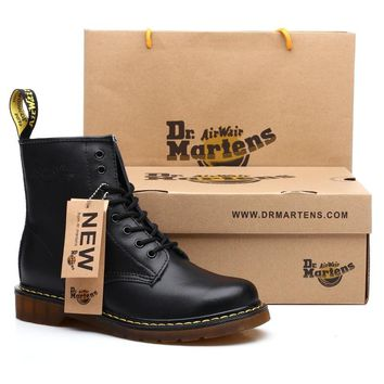 Dr. Martens warm motocycle work safeti men's boots for men casual shoes adult work quality walk rubber safety shoes sneakers
