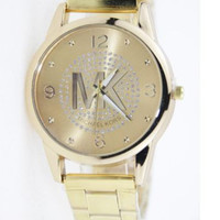 Fashionable MK Ladies Watch in Gold Tone