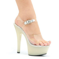 "Women's 6"" Heel Glow In The Dark Sandal"