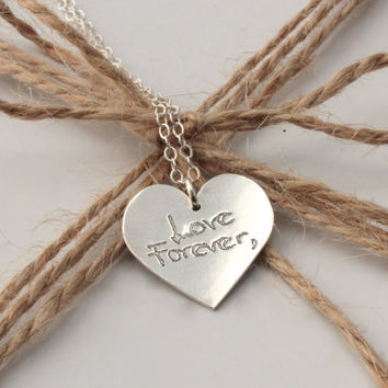 Memorial Heart Pendant - Personalized with your handwriting