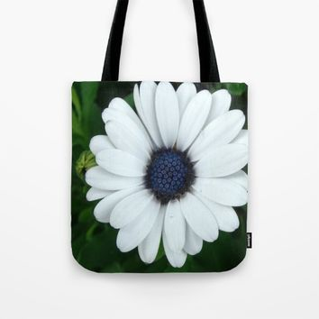 White African Daisy Tapestry Print Tote Bag by Celeste Sheffey of Khoncepts