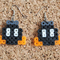 Bob Omb Earrings - perler hanna fusible bead super mario character geek nerd swag dangle fish hook FREE Shipping to United States