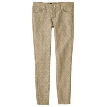 Mossimo® Women's Jacquard Skinny Pant w/ Ankle Zipper - Assorted Colors