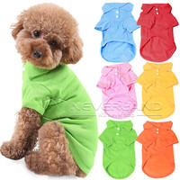 XS S M L XL Size Pet Dog Cat Puppy Cute Polo T-Shirts Suit Clothes Outfit Apparell