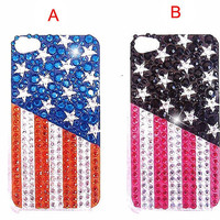 iphone 4 case - iphone 4 cover - Flag iphone 4 case - Bling iphone 4 case - best iphone 4 case - flag iphone case crystal iphone cover