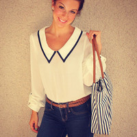 Sailor Blouse (Ivory)