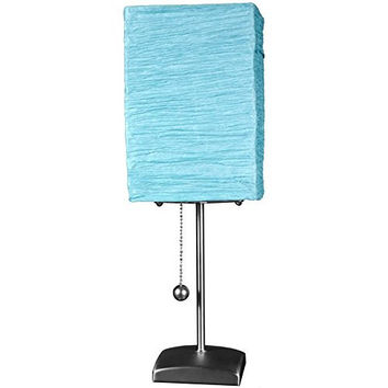 "Oriental Furniture 17"" Yoko Table Lamp - Aqua"
