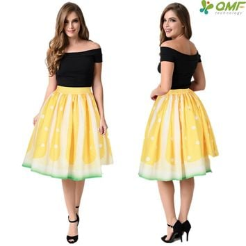 Golden Lemon Sports Skater Skirts White Swing Knee-Length Tennis Skirt Green A-Line Pleated Skirts Womens High Waist Sexy Flared