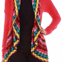 Ring of Color Cardigan - Red