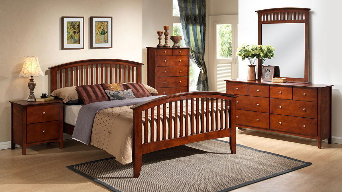 lifestyle b8137 queen merlot bedroom set from my furniture place