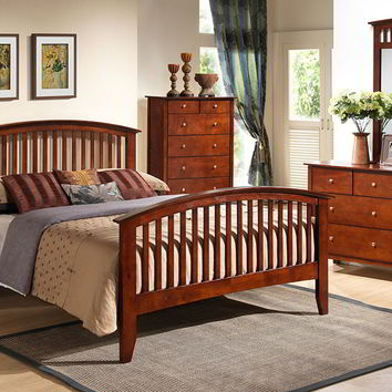 Lifestyle B8137 Queen Merlot Bedroom Set