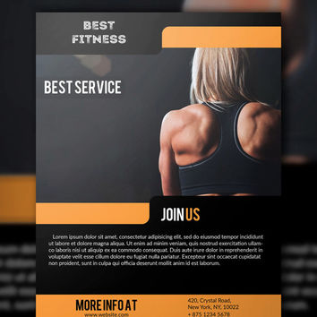 Fitness Gym Flyer PSD Template