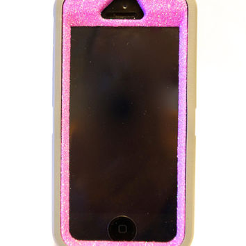 Otterbox Case iPhone 5/5s Glitter Cute Sparkly Bling Defender Series Custom Case Pink / Gray