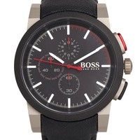 Hugo Boss Architectural Black Kevlar Chronograph Watch 1512979