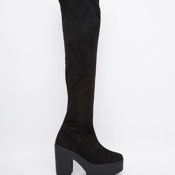 Truffle Collection | Truffle Collection Nora Over The Knee Boots at ASOS