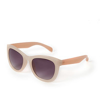 FOREVER 21 Ombre Square Sunglasses Peach/Pink One