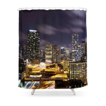 Society6 It's Night In New York City Shower Curtains