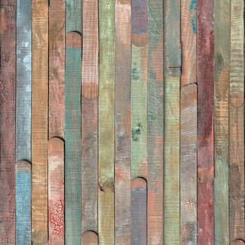 Brewster Wallpaper 346-0610 Rio Colored Wood Adhesive Film