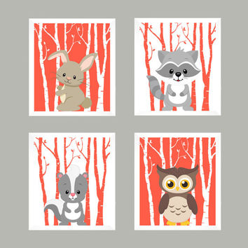 Forest Animals, Nursery Decor, Baby Decor, Woodland Nursery, Baby Print, Nursery Print, Animal Print, Woodland Animals, Wall Art, Wall Decor