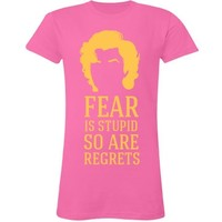 Fear Marilyn: Custom Junior Fit LA T Fine Jersey T-Shirt - Customized Girl