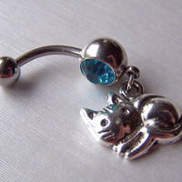 Bellybutton Cat Jewelry Body Jewelry Belly Ring by daisysgemgarden