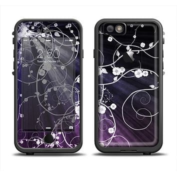 The Dark Purple Light Arrays with Glowing Vines Skin Set for the Apple iPhone 6 LifeProof Fre Case