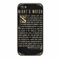 Game Of Thrones Nights Watch iPhone 5s Case