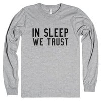 In Sleep We Trust-Unisex Heather Grey T-Shirt