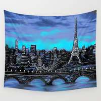 Eiffel Tower ~ Paris France Wall Tapestry by RokinRonda | Society6