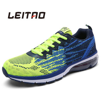 LEITAO Lovers Sport Running Shoes Outdoor Breathable Comfortable Couple Shoes Lightweight Athletic Sneaker for Men and Women