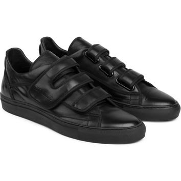 Raf Simons Black Velcro Low-Top Sneakers | HYPEBEAST Store.