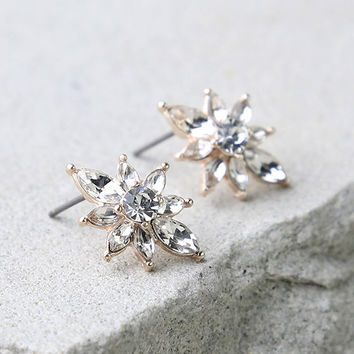 All the Small Things Rose Gold Rhinestone Earrings