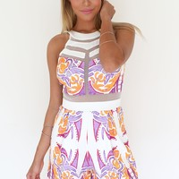 Avalanche Playsuit - Electric | SABO SKIRT