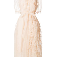 Simone Rocha Ruffled sheer-overlay Dress - Farfetch