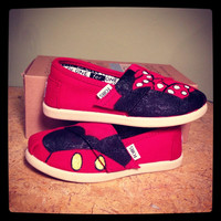 Minnie and Mickey Custom TOMS Vans Keds or by SolelyYoursShoes