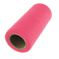 Premium Tulle Spool Roll, 6-inch, 25-yard, Shocking Pink